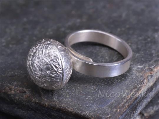 Silberring Kugel