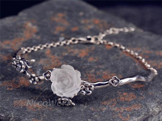 Silberarmband Rose