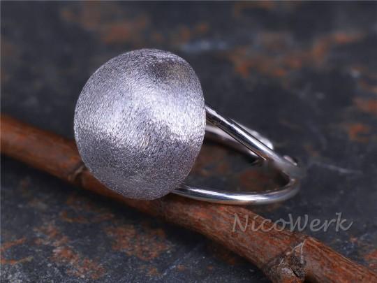 Silberring Halbkugel