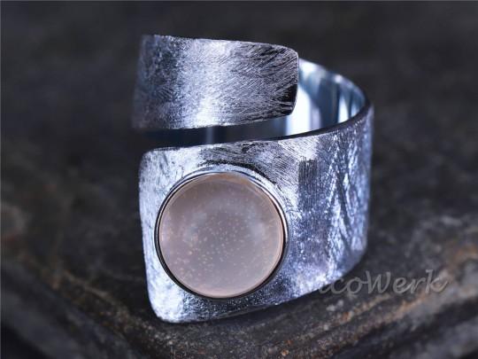 Silberring Rosenquarz