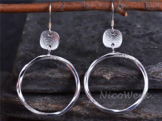 Silber Ohrringe Schlicht