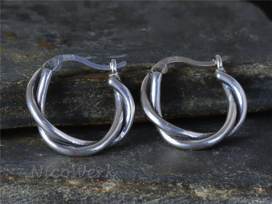 Silber Ohrringe Creolen