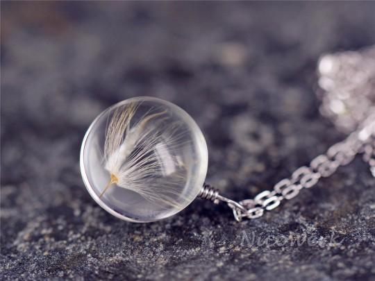 Silberkette mit Anhänger Pusteblume