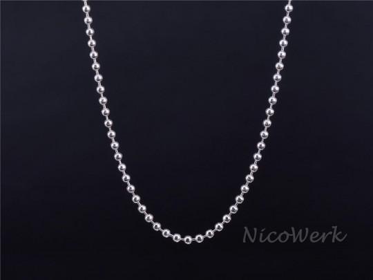 Silberkette Kugelkette 50cm