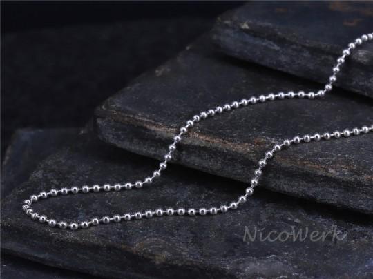 Silberkette Kugelkette 55cm