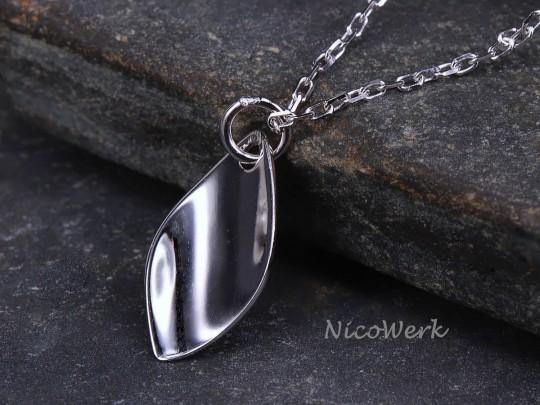 Silberkette mit Anhänger Schlicht