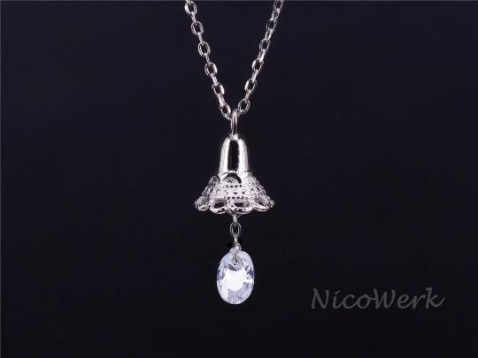 Silberkette mit Anhänger Glocke