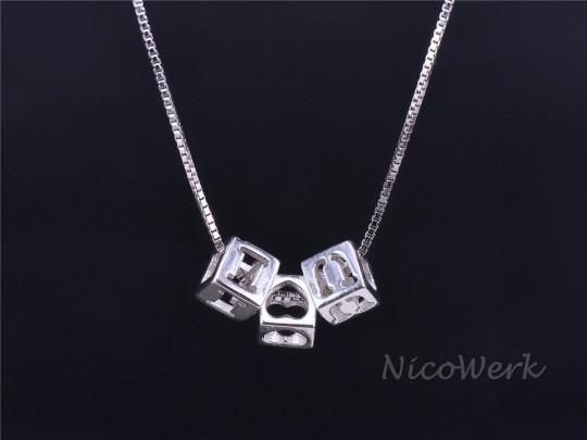 Silberkette mit Anhänger LOVE