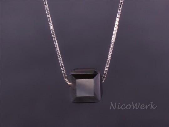 Silberkette mit Anhänger Würfel