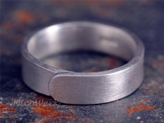 Silberring Bandring