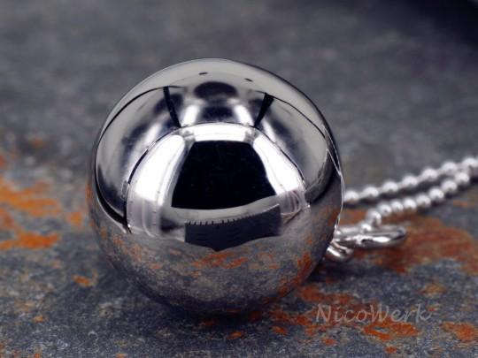 Silberanhänger Kugel
