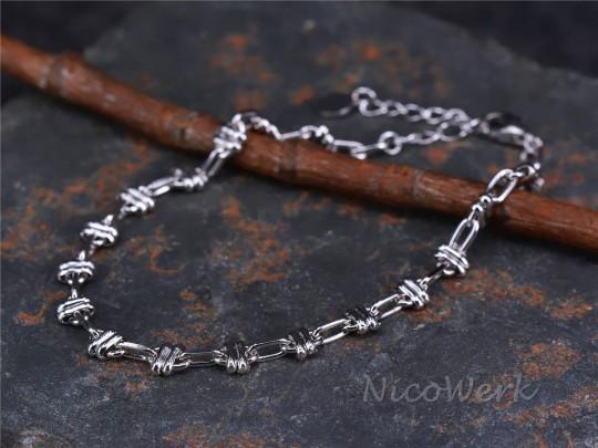 Silberarmband Knoten