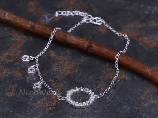 Silberarmband Kreis