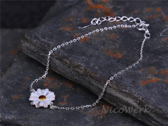 Silberarmband Gänseblümchen