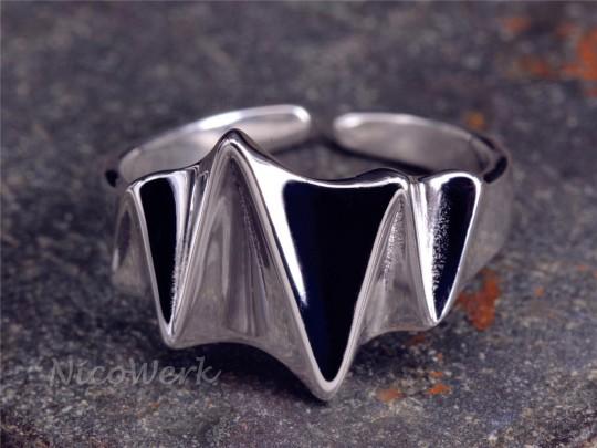 Silberring Falte