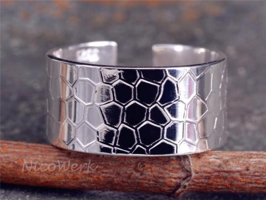 Silberring Bienenwabe