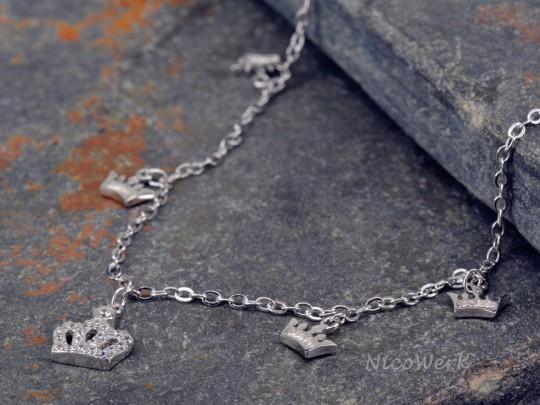 Fußkettchen Silber Krone