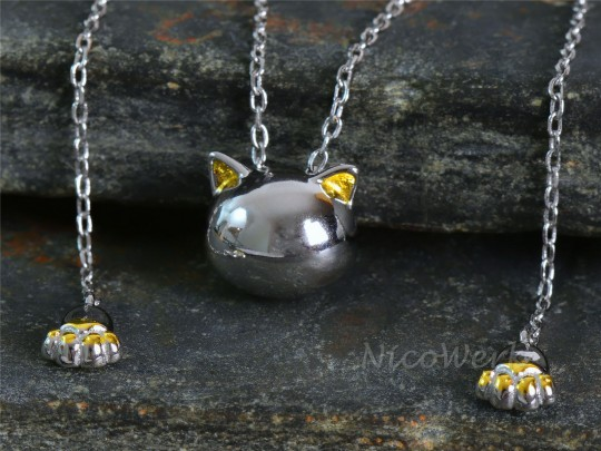 Silberkette Katze