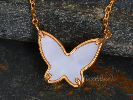 Silberkette Schmetterling