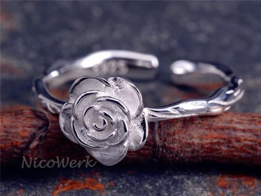 Silberring Rose