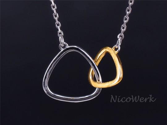 Silberkette mit Anhänger Dreieck