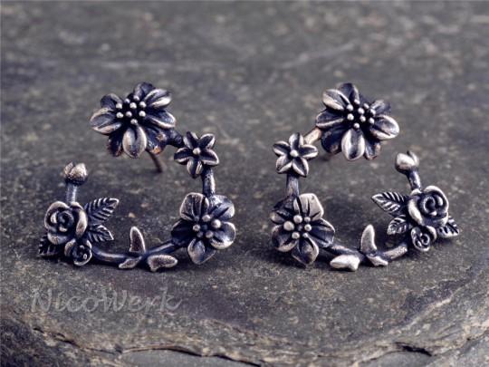 Silber Ohrstecker Blume