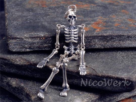 Silberanhänger Skelette