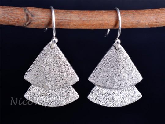 Silber Ohrringe Kreisausschnitt