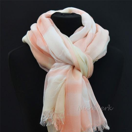 Schal Seiden Modal Pink 130 x 180cm