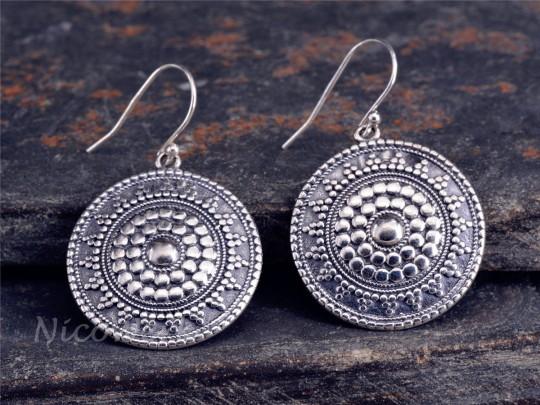 Silber Ohrringe Scheibe