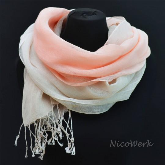 Schal Leinen Pink Grau 55 x 180cm