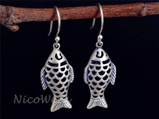 Silber Ohrringe Fisch