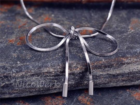 Silberarmband Schleife