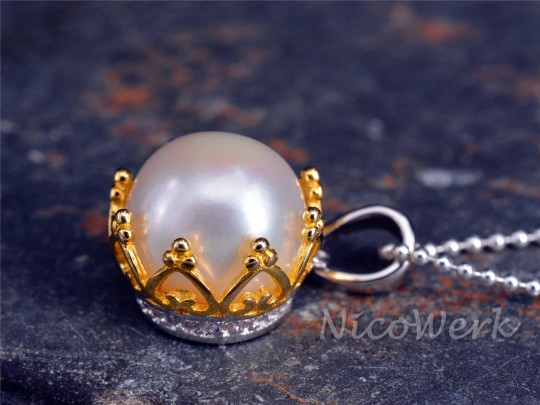 Silberanhänger Perle