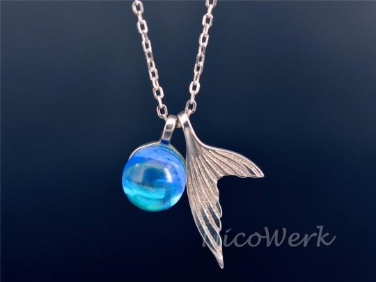Silberkette mit Anhänger Meerjungfrau