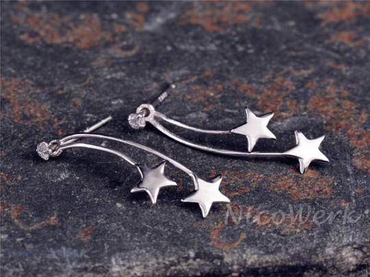 Silber Ohrringe Stern