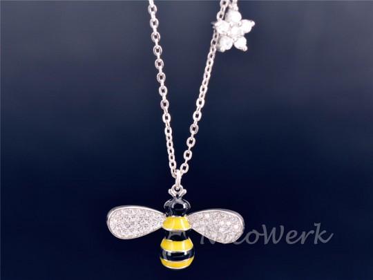 Silberkette mit Anhänger Biene