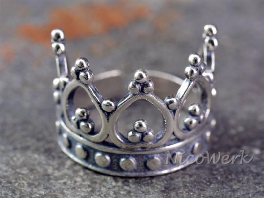 Silberring Krone