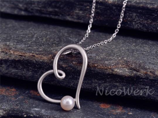 Silberkette mit Anhänger Herz