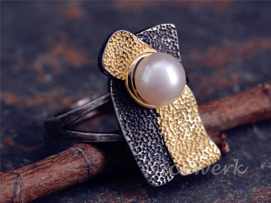 Silberring Perle