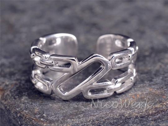 Silberring Kettengelieder