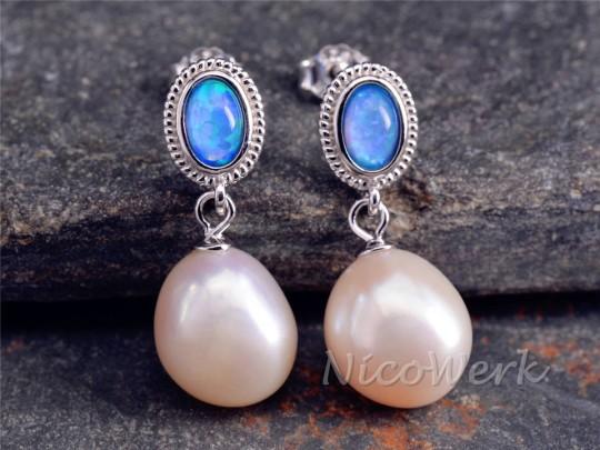 Silber Ohrringe Perle