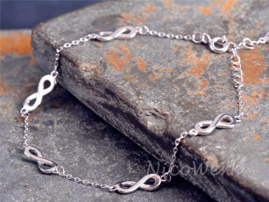 Silberarmband Unendlichkeit
