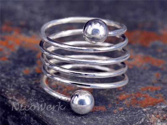 Silberring Spiral