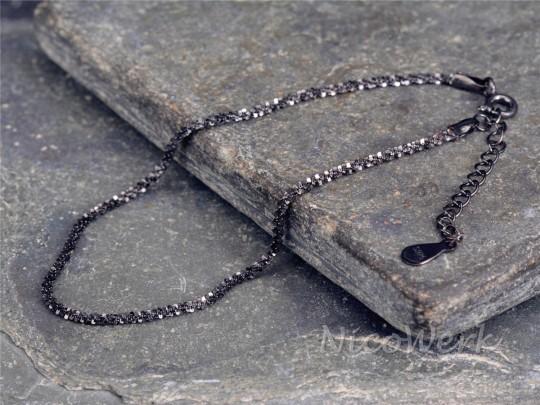 Silberarmband Schwarz