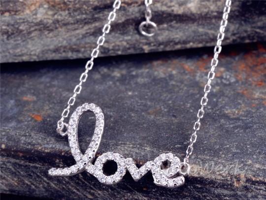 Silberarmband Love