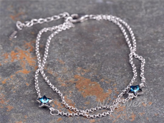 Silberarmband Stern