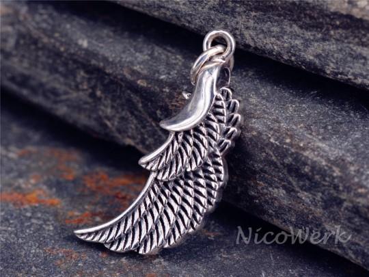Silberanhänger Engelsflügel