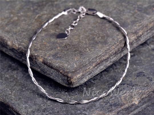 Silberarmband Schlicht