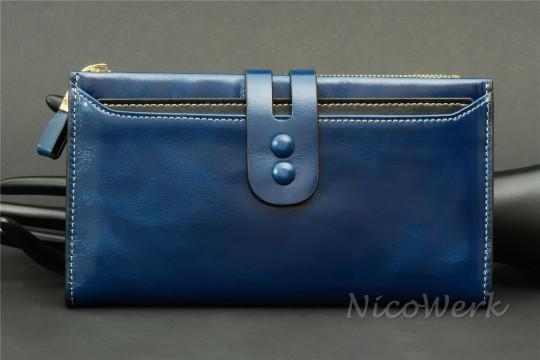 Geldbörse Leder Blau